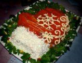 Миниатюра к статье Салат «Варежка Деда Мороза» с красной рыбой