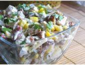 Миниатюра к статье Салат с курицей, фасолью и сыром