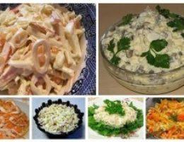 Миниатюра к статье 6 простых и вкусных салатов с кальмарами