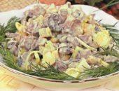Миниатюра к статье Салат мясной с грибами
