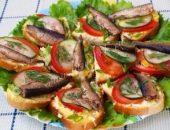 Миниатюра к статье Праздничные бутерброды со шпротами